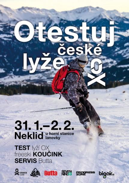 testovani lyzi OX ski na Neklidu